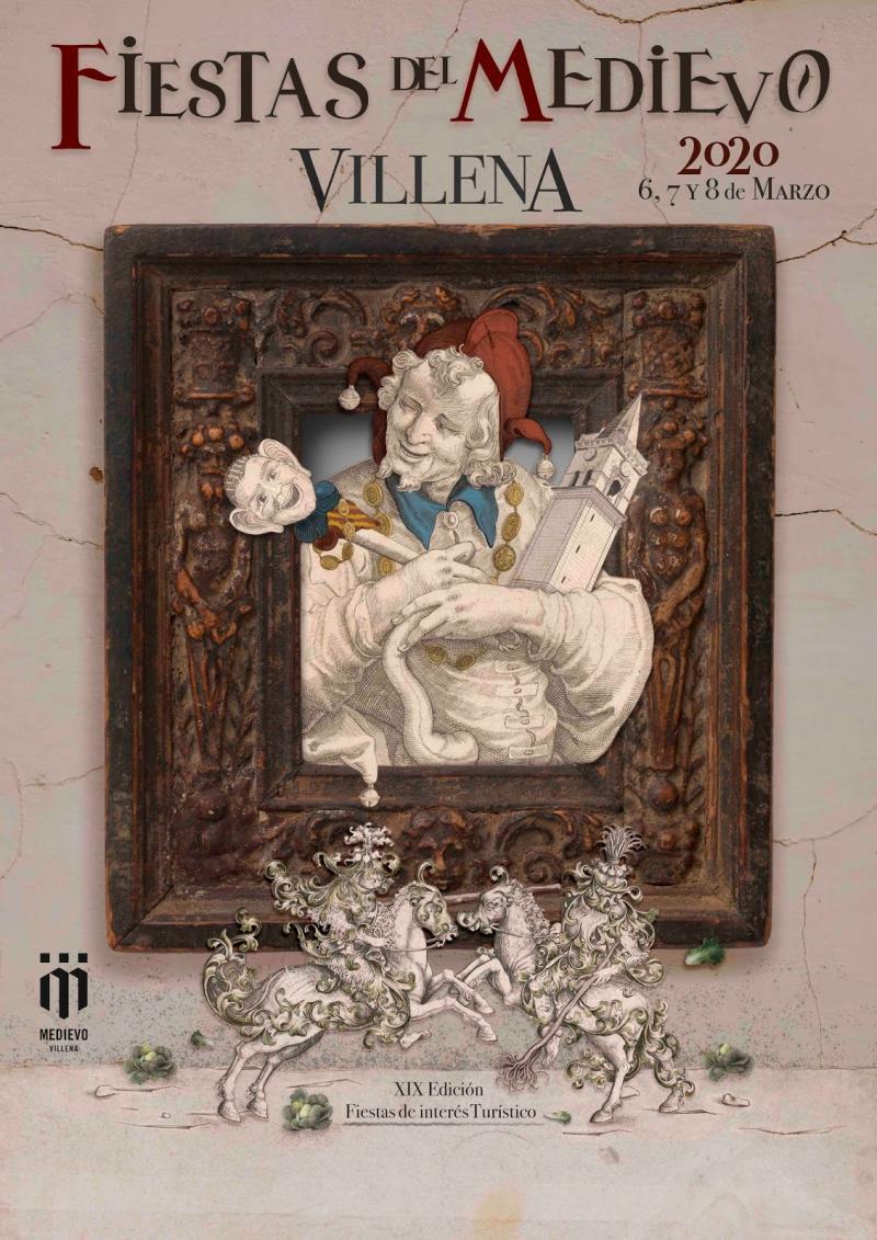 Cartel fiestas medievo Villena 2020